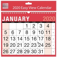 2020 Red & Black Easy View Calendar