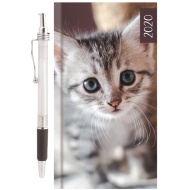 2020 Animal Diary with Pen - Kitten
