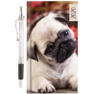 2020 Animal Diary with Pen - Pug