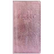 2020 Slim Metallic Diary - Pink