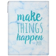 2020 Marble Planner Diary - Blue