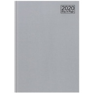 2020 Day A Page A4 Diary - Silver