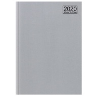2020 Week to View A5 Diary - Silver