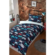 Fashion Single Duvet Set - Gaming