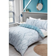 Teal Willow King Duvet Set
