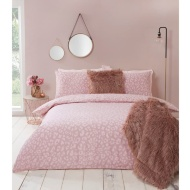 Leopard Print Blush King Size Duvet Set