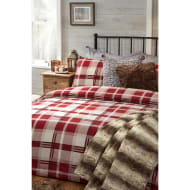 Oakland Check Brushed Cotton King Size Duvet Set