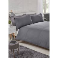 Layers Pinsonic King Duvet Set - Charcoal
