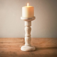 Heritage Wooden Pillar Candle Stick