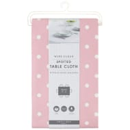 Wipe Clean Spotted Tablecloth - Pink