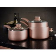 Tower Saucepan Set 3pk - Rose Gold