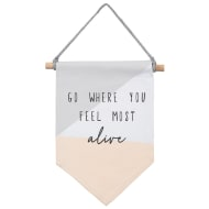 Flag Hanging Plaque - Feel Most Alive