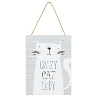 Cat Hanging Plaque - Crazy Cat Lady