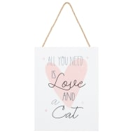 Cat Hanging Plaque - Love & a Cat