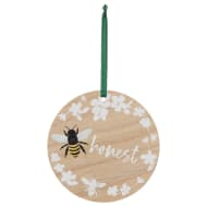 Bee Honest Wooden Hanging Plaque