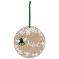 Bee Kind Wooden Hanging Plaque