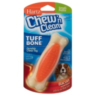 Hartz Chew 'n Clean Tuff Bone Toy - Orange