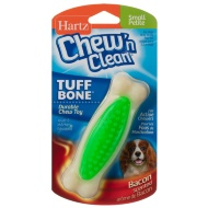 Hartz Chew 'n Clean Tuff Bone Toy - Green