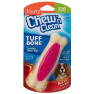 Hartz Chew 'n Clean Tuff Bone Toy - Purple