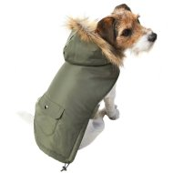 Dog Fashion Parka Coat - X-Small - Medium - Green
