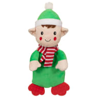Festive Flattie Dog Toy - Elf