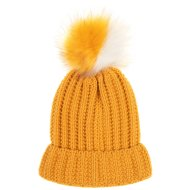 Ladies Pom Pom Hat - Ochre