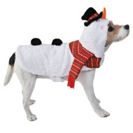 Snowman Christmas Dog Costume XS-S