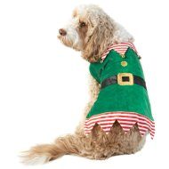 Elf Christmas Dog Costume M-XL