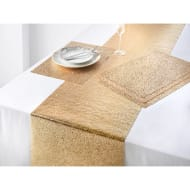 Gold Table Runner & Placemats Set 5pc