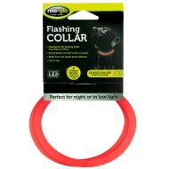 Nite-Glo Flashing Dog Collar - Red
