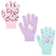 Kids Design Gloves 3pk - Unicorns
