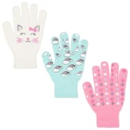 Kids Design Gloves 3pk - Rainbows & Stars