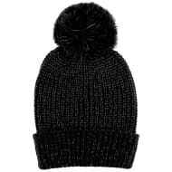 Kids Reflective Bobble Hat - Black