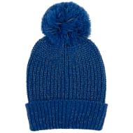 Kids Reflective Bobble Hat - Blue