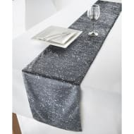 Large Velvet Table Runner 31 x 235cm - Grey