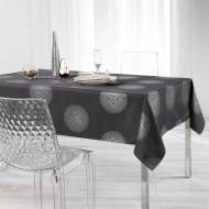 Metallic Wipe Clean Tablecloth 132 x 230cm - Charcoal