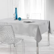 Metallic Wipe Clean Tablecloth 132 x 230cm - Grey