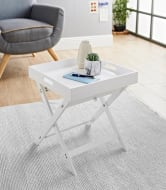 Bjorn Folding Tray Table - White