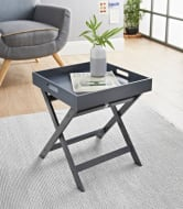Bjorn Folding Tray Table - Grey