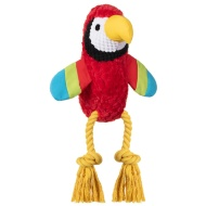 Tropical Bird Dog Toy - Parrot