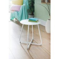 Mobel Folding Side Table - White