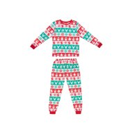 Young Kids Fair Isle Christmas Pyjamas