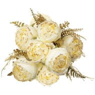 Artificial Flower Bouquet - White