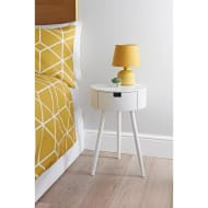 Moden 1 Drawer Bedside Table - White