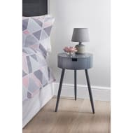 Moden 1 Drawer Bedside Table - Grey