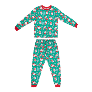 Ladies Green Christmas Pyjamas
