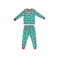 Young Kids Green Christmas Pyjamas