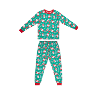 Older Kids Green Christmas Pyjamas