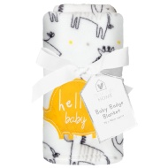 Baby Badge Blanket - Grey