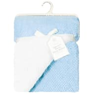 Supersoft Waffle Sherpa Blanket - Blue